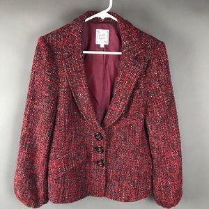 Nanette Lepore Red tweed Blazer Jacket